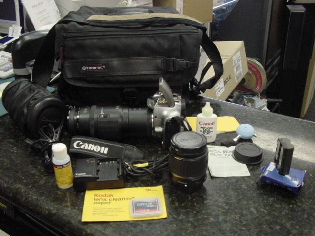 Canon Eos Digital Camera Ds6041 70 210 18 55mm